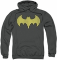 Batgirl pull-over hoodie Logo Distressed adult charcoal