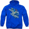 Batgirl pull-over hoodie The Night Is Young adult royal blue