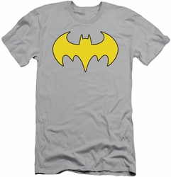 Batgirl slim-fit t-shirt Logo mens silver