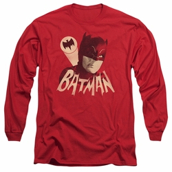 Batman 1966 Classic TV Series adult long-sleeved shirt Bat Signal red