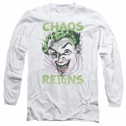 Batman 1966 Classic TV Series adult long-sleeved shirt Chaos Reigns white