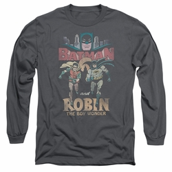 Batman 1966 Classic TV Series adult long-sleeved shirt Classic Duo charcoal