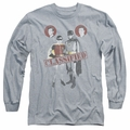 Batman 1966 Classic TV Series adult long-sleeved shirt Classified athletic heather