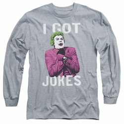 Batman 1966 Classic TV Series adult long-sleeved shirt Got Jokes athletic heather