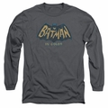 Batman 1966 Classic TV Series adult long-sleeved shirt In Color charcoal