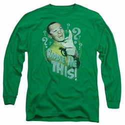 Batman 1966 Classic TV Series adult long-sleeved shirt Riddle Me This kelly green