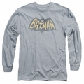 Batman 1966 Classic TV Series adult long-sleeved shirt Show Logo athletic heather