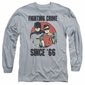 Batman 1966 Classic TV Series adult long-sleeved shirt Since 66 athletic heather