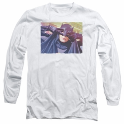 Batman 1966 Classic TV Series adult long-sleeved shirt Smooth Groove white