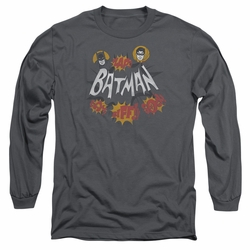 Batman 1966 Classic TV Series adult long-sleeved shirt Sound Effects charcoal