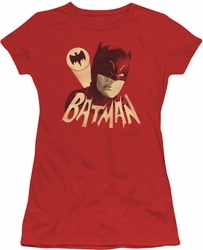 Batman 1966 TV Series juniors t-shirt Bat Signal red