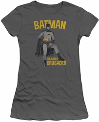 Batman 1966 TV Series juniors t-shirt Caped Crusader charcoal