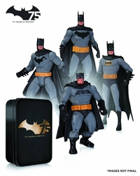 Batman 75Th Anniversary Action Figure 4 Pack Set #2 *Bad Box*