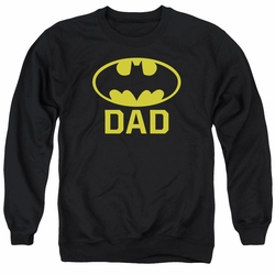Batman adult crewneck sweatshirt Bat Dad black