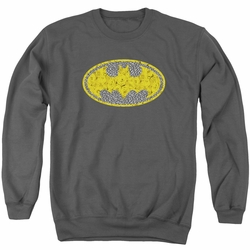 Batman adult crewneck sweatshirt Elephant Rose Signal Charcoal