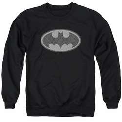 Batman adult crewneck sweatshirt Elephant Signal Black