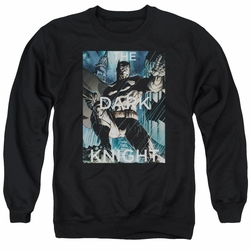 Batman adult crewneck sweatshirt Fighting The Storm black