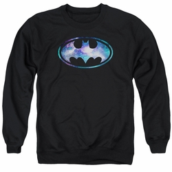 Batman adult crewneck sweatshirt Galaxy 2 Signal black