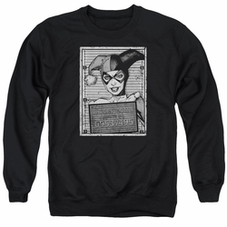 Batman adult crewneck sweatshirt Harley Quinn Inmate black
