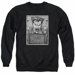 Batman adult crewneck sweatshirt Joker Inmate black