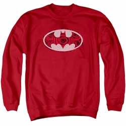 Batman adult crewneck sweatshirt Rosey Signal Red