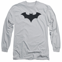 Batman adult long-sleeved shirt 52 Title Logo silver