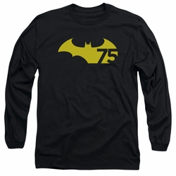 Batman adult long-sleeved shirt 75 Logo 2 black