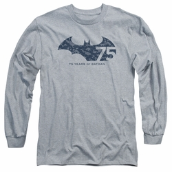 Batman adult long-sleeved shirt 75 Year Collage athletic heather