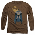 Batman adult long-sleeved shirt Arms Akimbo Bats coffee