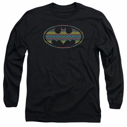 Batman adult long-sleeved shirt Aztec Signal black