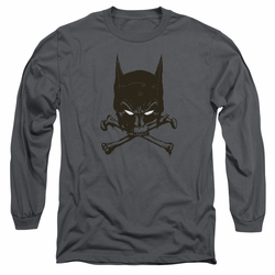 Batman adult long-sleeved shirt Bat And Bones charcoal