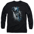 Batman adult long-sleeved shirt Bat Crash black
