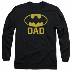 Batman adult long-sleeved shirt Bat Dad black