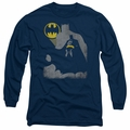Batman adult long-sleeved shirt Bat Knockout navy
