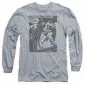 Batman adult long-sleeved shirt Bat Origins athletic heather