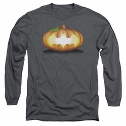 Batman adult long-sleeved shirt Bat Pumpkin Logo charcoal