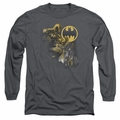 Batman adult long-sleeved shirt Bat Signal charcoal