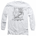 Batman adult long-sleeved shirt Bat Sketch white