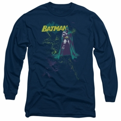 Batman adult long-sleeved shirt Bat Spray navy