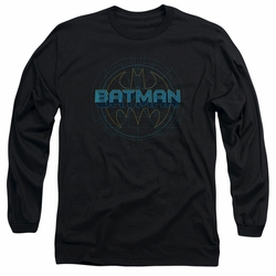 Batman adult long-sleeved shirt Bat Tech Logo black