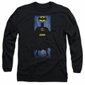 Batman adult long-sleeved shirt Batman Block black
