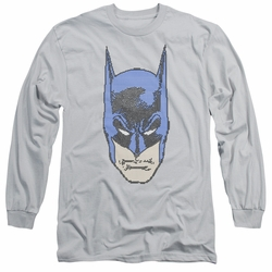 Batman adult long-sleeved shirt Bitman silver