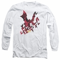 Batman adult long-sleeved shirt Broken City white