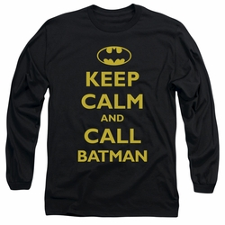 Batman adult long-sleeved shirt Call Batman black