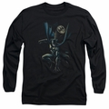 Batman adult long-sleeved shirt Calling All Bats black