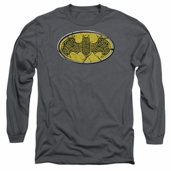 Batman adult long-sleeved shirt Celtic Shield charcoal