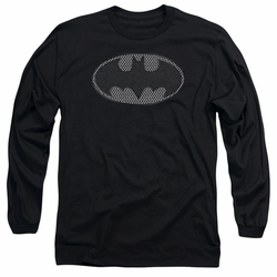 Batman adult long-sleeved shirt Chainmail Shield black