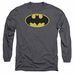 Batman adult long-sleeved shirt Classic Bat Logo charcoal