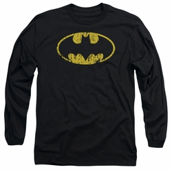 Batman adult long-sleeved shirt Classic Logo Distressed black