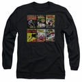 Batman adult long-sleeved shirt Comic Covers black